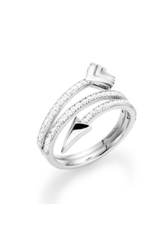 Smart Jewel Silberring »stylisch in Pfeiloptik geschwungen, Zirkonia Steine, Silber 925« kaufen