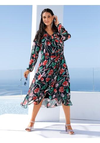 MIAMODA A-Linien-Kleid, mit streckendem V-Ausschnitt kaufen