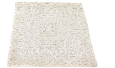 morgenland Teppich »Designer Teppich handgewebt beige«, quadratisch, 15 mm Höhe, Viskose kaufen