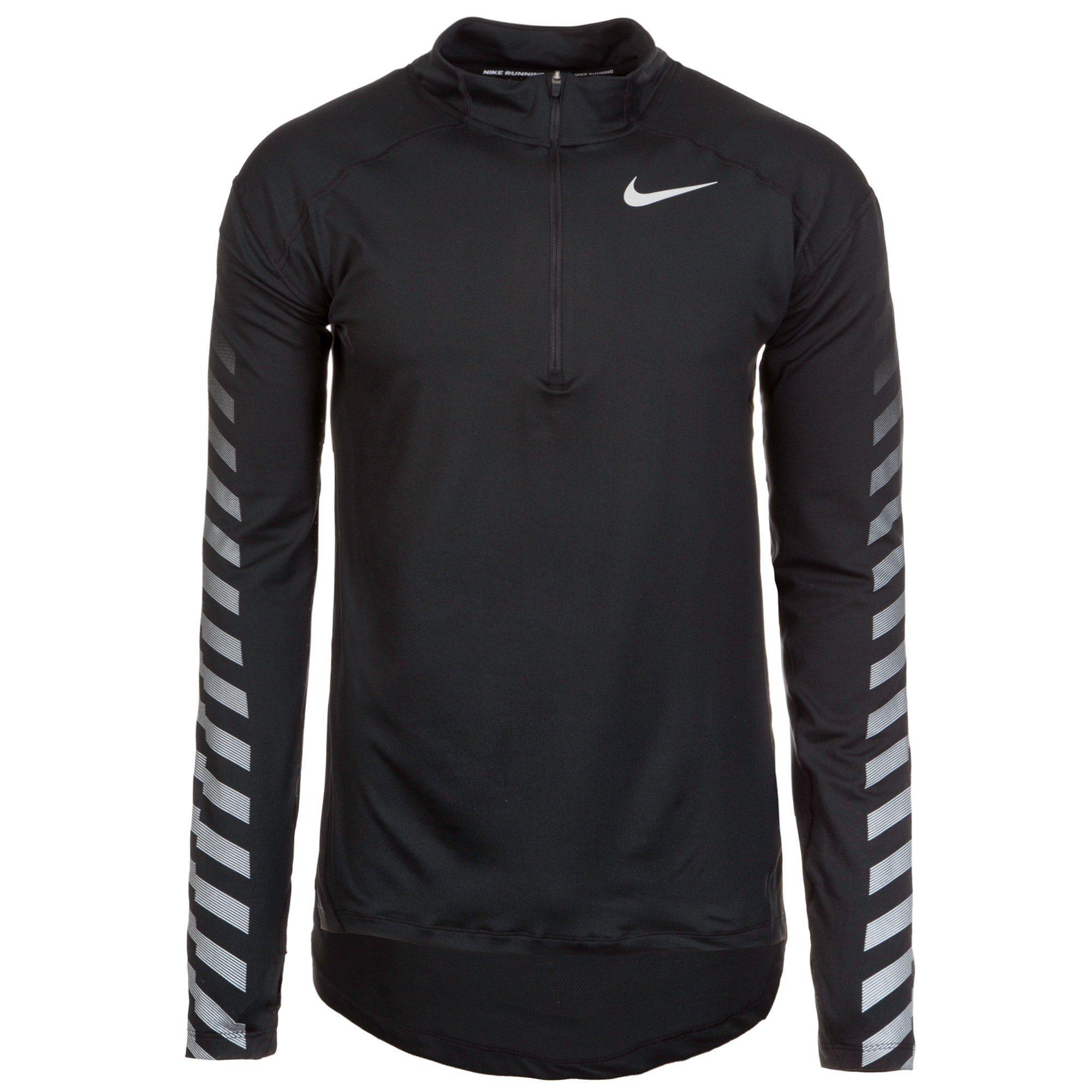 Nike Laufshirt Dry Flash Element | Sportbekleidung > Sportshirts > Laufshirts | Schwarz | Nike