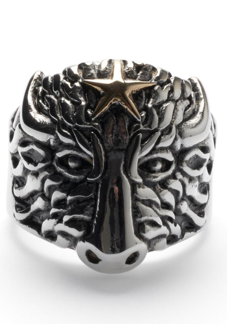 ROYAL EGO Fingerring Stier mit Stern - Buffalo Star silver, 1714 | Schmuck > Ringe > Fingerringe | Royal Ego