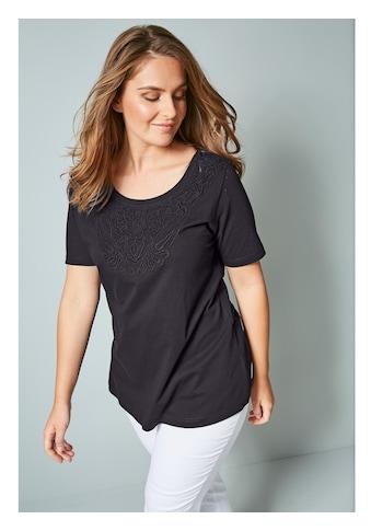 Janet & Joyce by Happy Size Shirt mit Spitze im Vorderteil kaufen