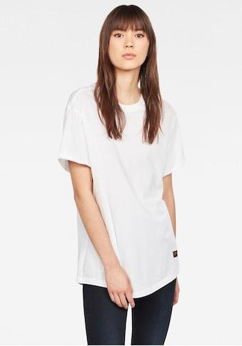 G-Star RAW T-Shirt »Lash Fem Loose Top«, umgeschlagene Ärmel mit kleinen Naht fixiert kaufen