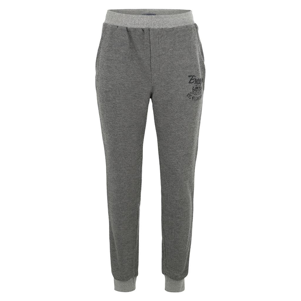 AHORN SPORTSWEAR Sweat Pants mit kontrastierenden Bündchen