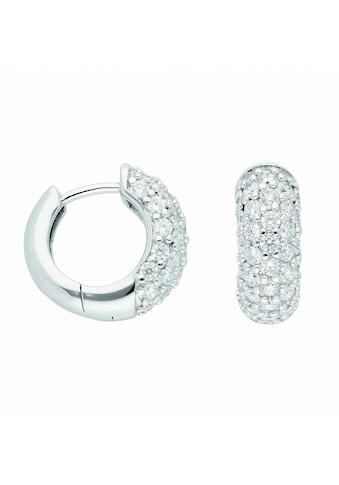 Adelia´s Paar Ohrhänger »925 Silber Ohrringe / Creolen mit Zirkonia Ø 16,1 mm«, 925... kaufen