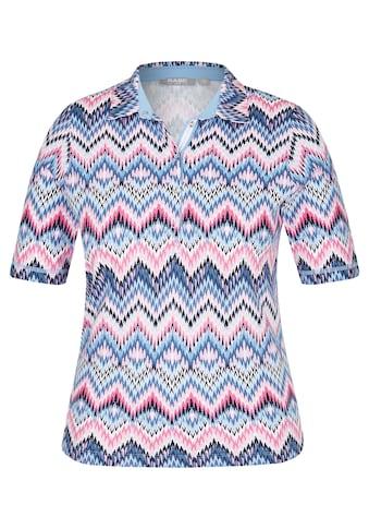 Rabe Shirt mit Polo - Kragen und Zick - Zack - Muster kaufen