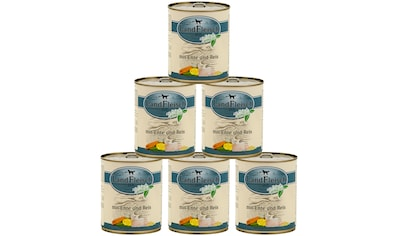 LANDFLEISCH Nassfutter »Pur Ente und Reis«, (6), 6 Dosen á 800 g kaufen