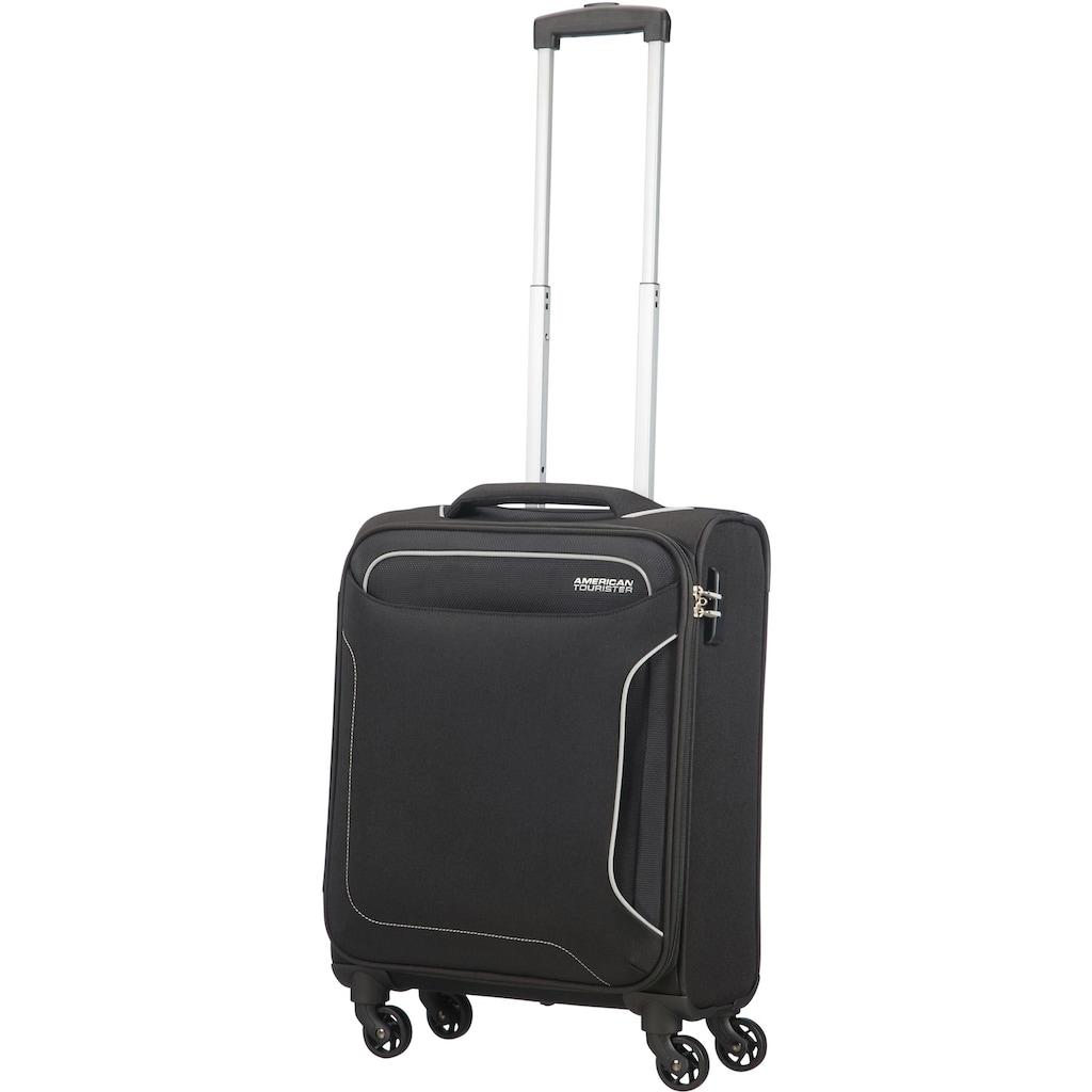 American Tourister® Weichgepäck-Trolley »Holiday Heat, 55 cm, black«, 4 Rollen