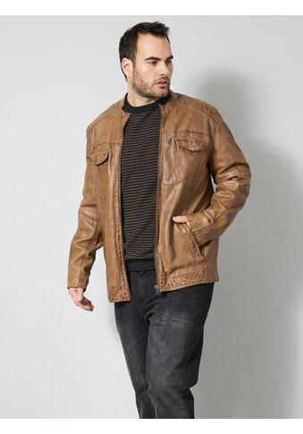 Men Plus Lederjacke, aus gefärbtem Lammnappa kaufen