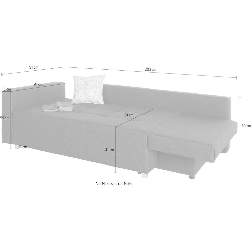 COLLECTION AB Schlafsofa, lässt sich schnell und einfach in ein bequemes Bett umwandeln, inklusive Bettkasten und Federkern