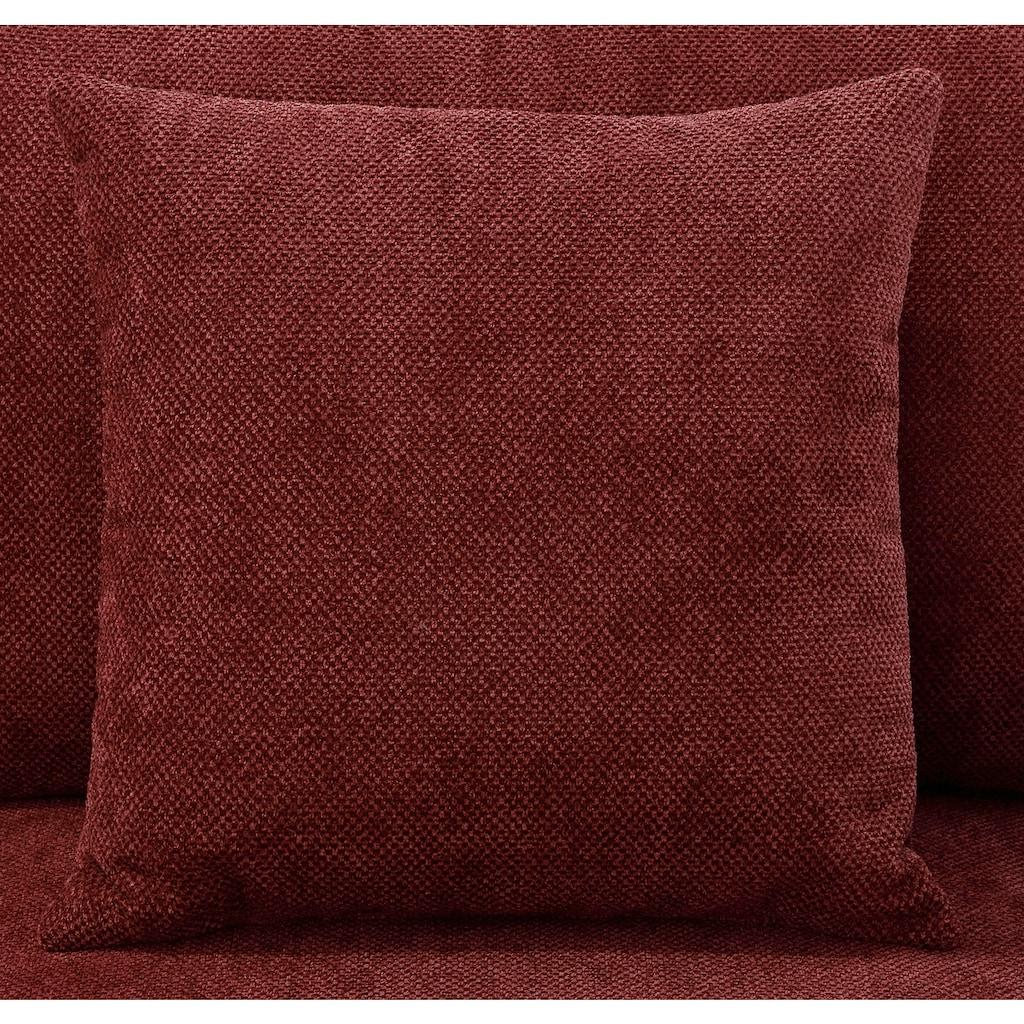 Home affaire 2-Sitzer »Stanza Luxus«, hohe Belastbarkeit pro Sitzplatz: 140kg, 1 Zierkissen, Keder, B/T/H: 141/93/89 cm