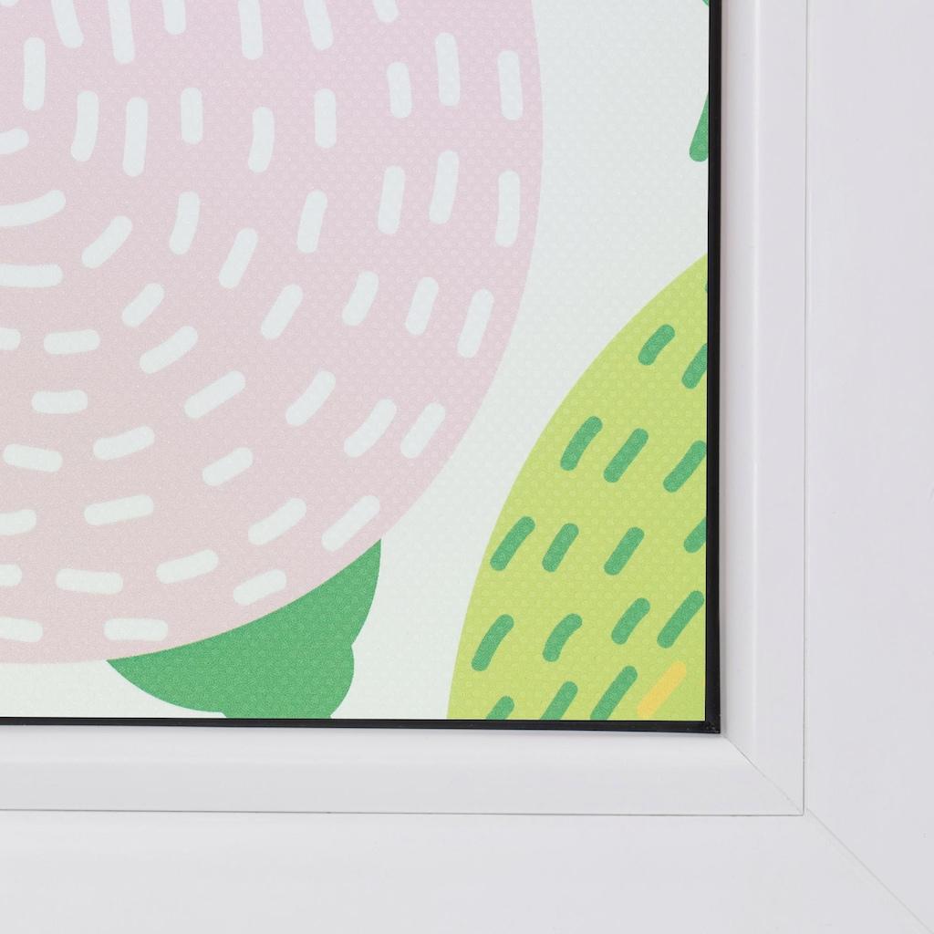 LICHTBLICK ORIGINAL Fensterfolie »Blumen«, 1 St., blickdicht, strukturiertKlebepunkte