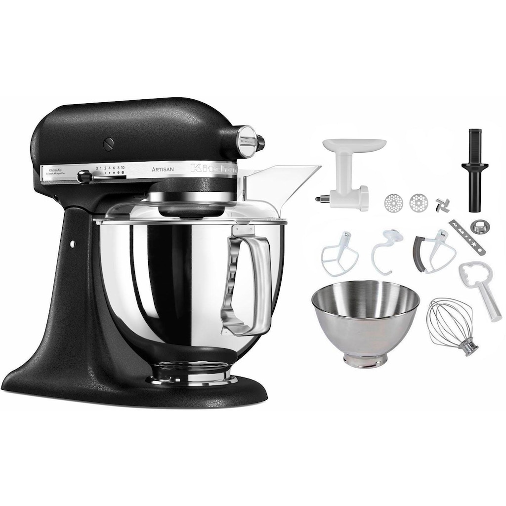 KitchenAid Küchenmaschine »5KSM175PSEBK Artisan«, 300 W, 4,8 l Schüssel, inkl. Sonderzubehör im Wert von ca. 106,-€ UVP