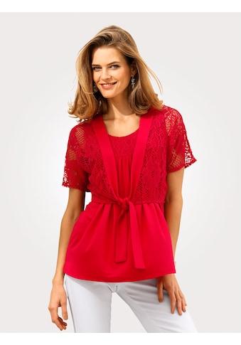 Mona Shirt - Set mit floraler Spitze kaufen