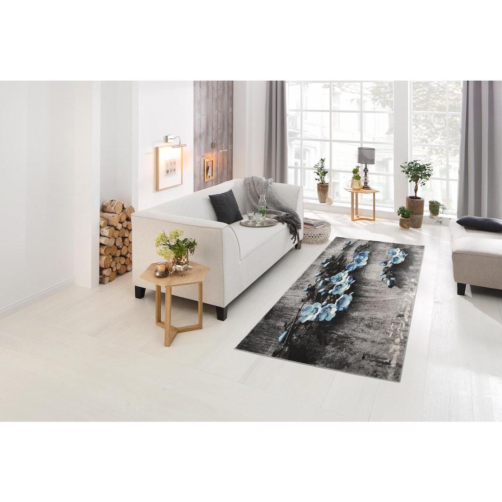 my home Teppich »Freya«, rechteckig, 8 mm Höhe, mit Blumen Design, Wohnzimmer