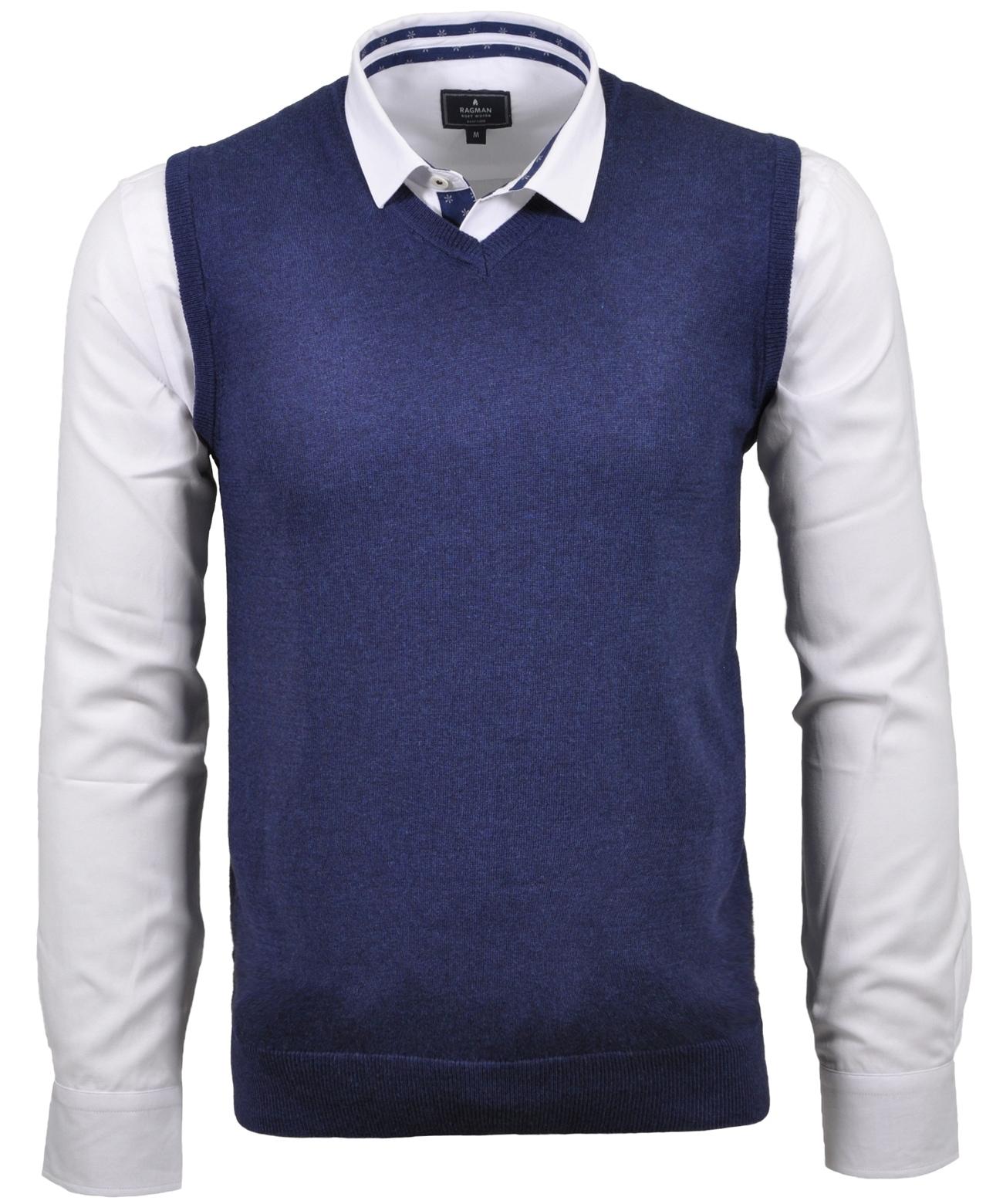 RAGMAN Pullunder | Bekleidung > Pullover > Pullunder | Blau | Ragman