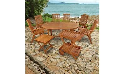 indoba Gartenmöbelset »Sun Flair«, (9 tlg.), Gartenset - IND-70066-BTSW kaufen