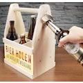 Contento Flaschenkorb »Bierholen ist auch Bewegung«, (1 tlg.), aus europäischem Holz