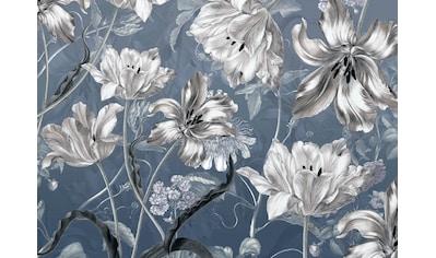 Komar Fototapete »Merian Blue«, bedruckt-floral-botanisch kaufen