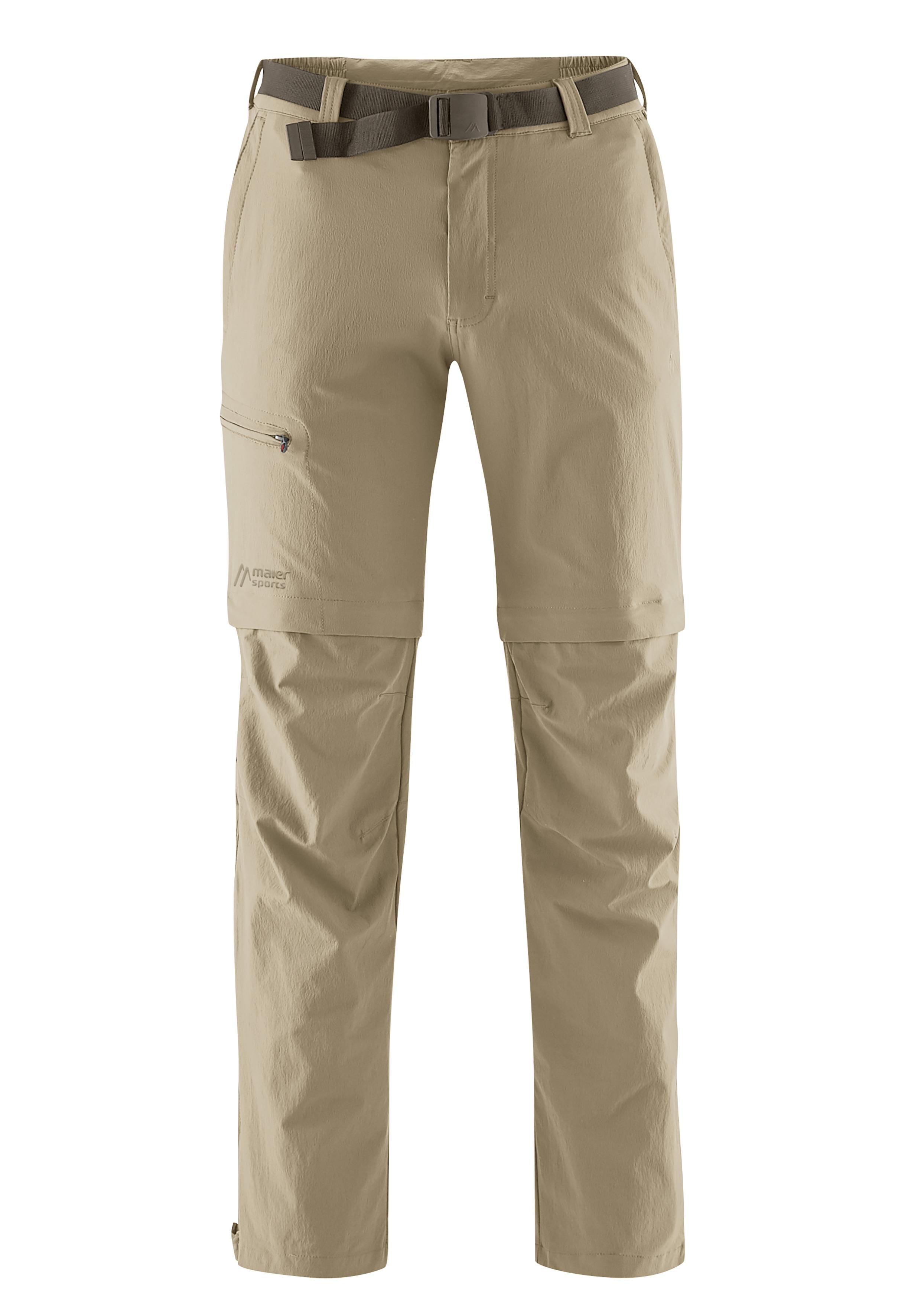 Maier Sports Funktionshose Tajo, Ausgezeichnete Outdoorhose mit funktionellem T-Zipp-Off beige Herren