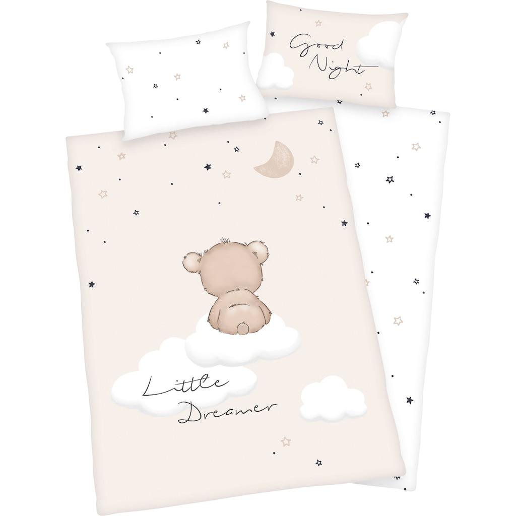 Baby Best Babybettwäsche »Little Dreamer«, mit niedlichem Motiv und liebevollem Schriftzug