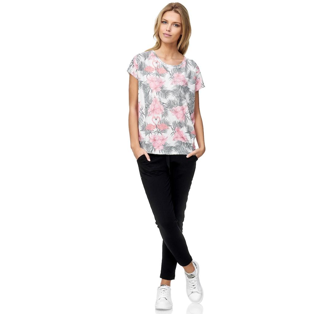 Decay T-Shirt, mit floralem Alloverprint