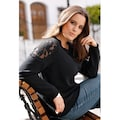 Sara Lindholm by Happy Size Pullover mit Spitze