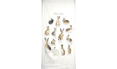 Juniqe Handtuch »Rabbits and Hares«, Weiche Frottee-Veloursqualität kaufen