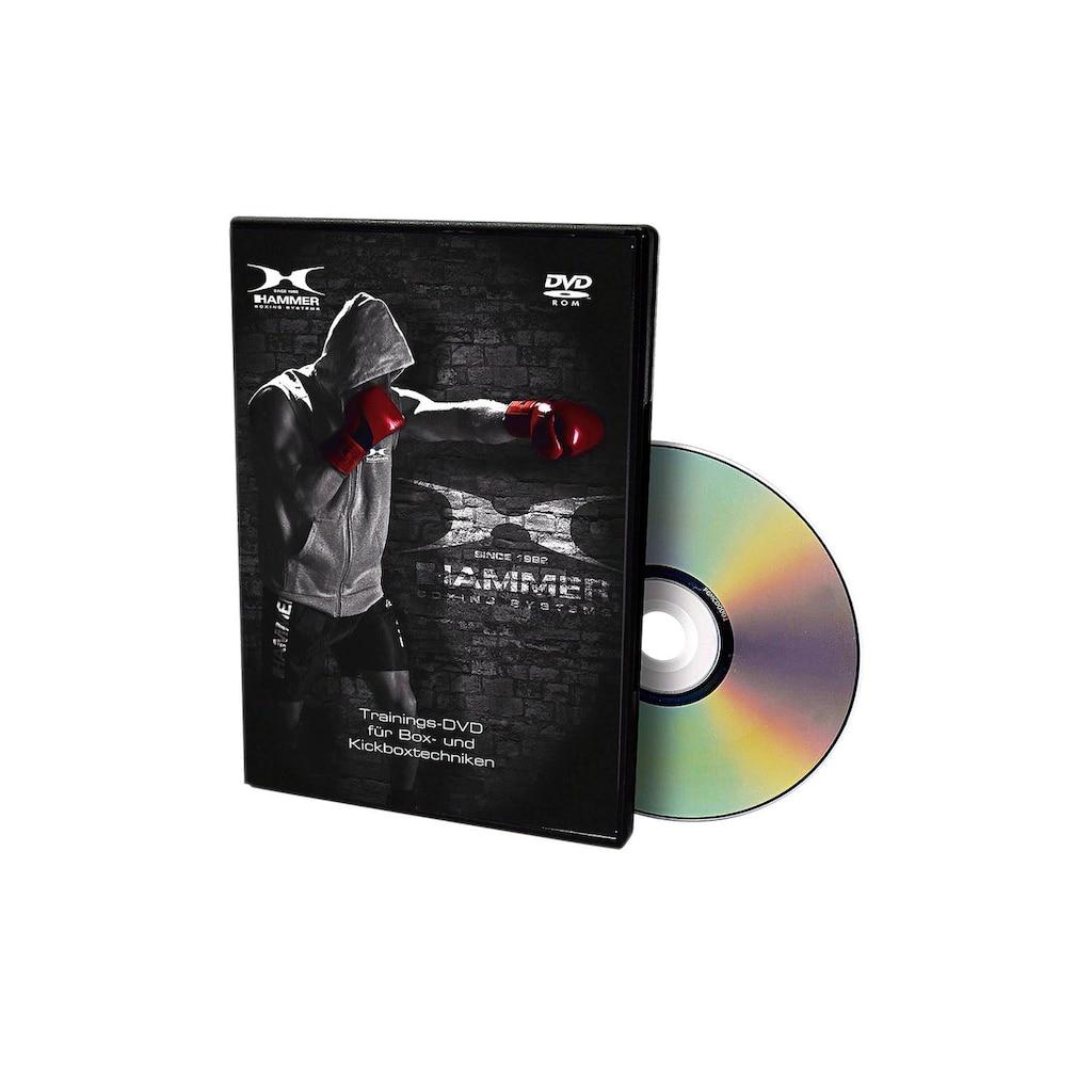Hammer Boxsack »Canvas Professional«, (Set, mit Trainings-DVD-mit Boxhandschuhen-mit Sprungseil-mit Haken)
