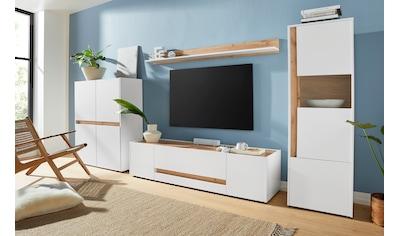 INOSIGN Wohnwand »Giron«, (Set, 4-St), Breite ca. 350 cm, modernes Wohnzimmer-Set in... kaufen