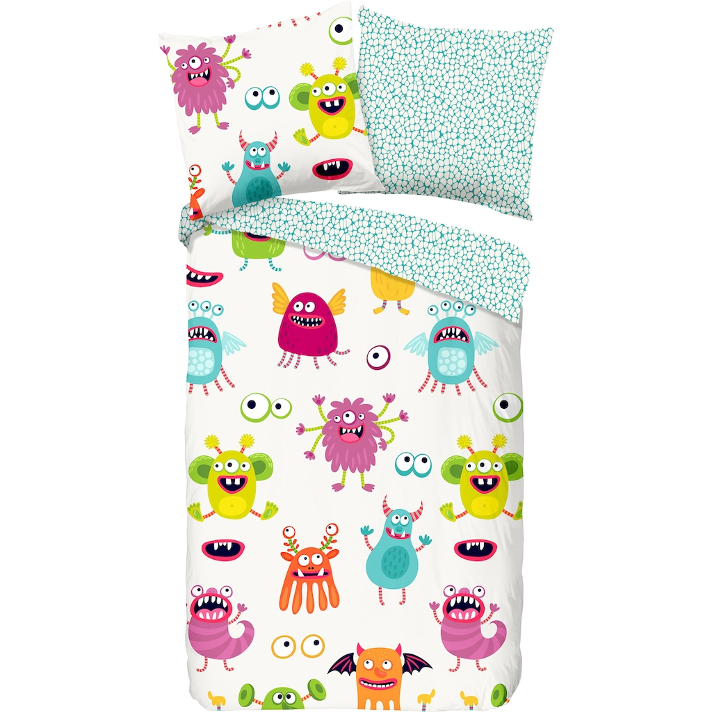 good morning Kinderbettwäsche »Booh«, mit Monster