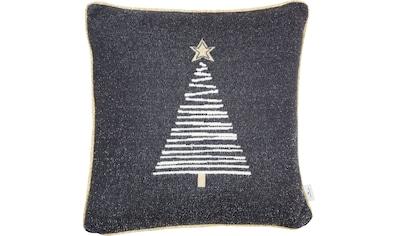 TOM TAILOR Dekokissen »Knitted Shiny Tree«, Gestrickte Kissenhülle mit... kaufen