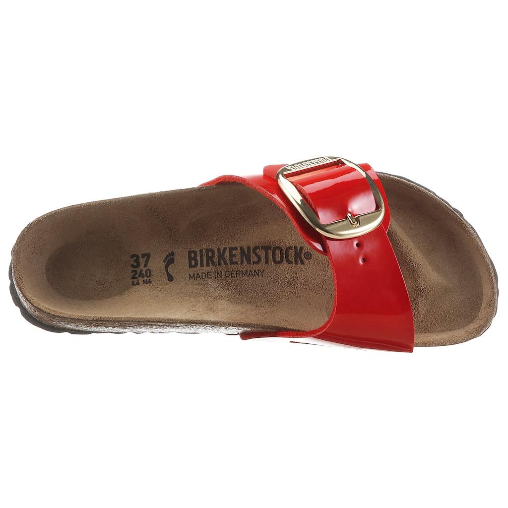 Birkenstock Pantolette »Madrid Big Buckle«, mit ergonomisch geformtem Fußbett, Schuhweite: schmal