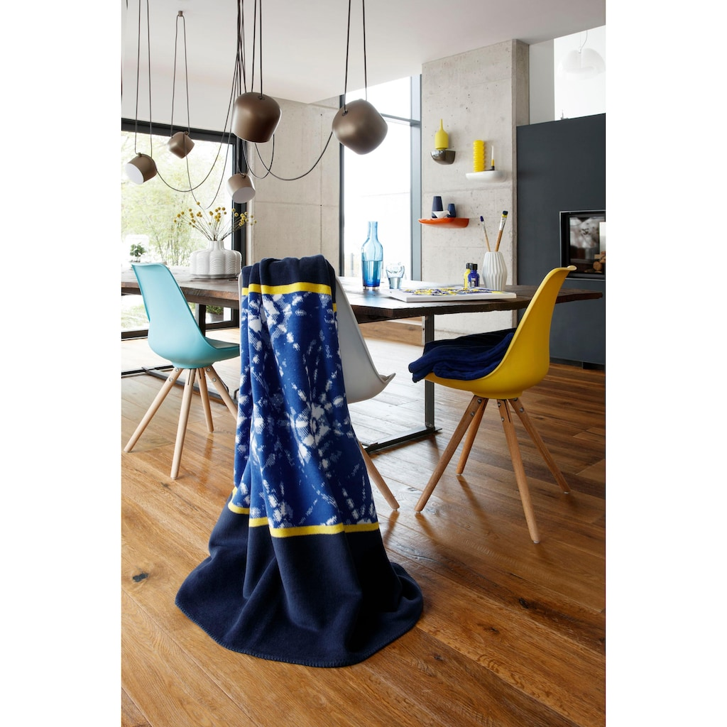 BIEDERLACK Wohndecke »Batik«, mit Muster