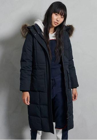 Superdry Winterjacke »LONGLINE FAUX FUR EVEREST COAT«, extra langer Winterparka in Premiumqualität kaufen