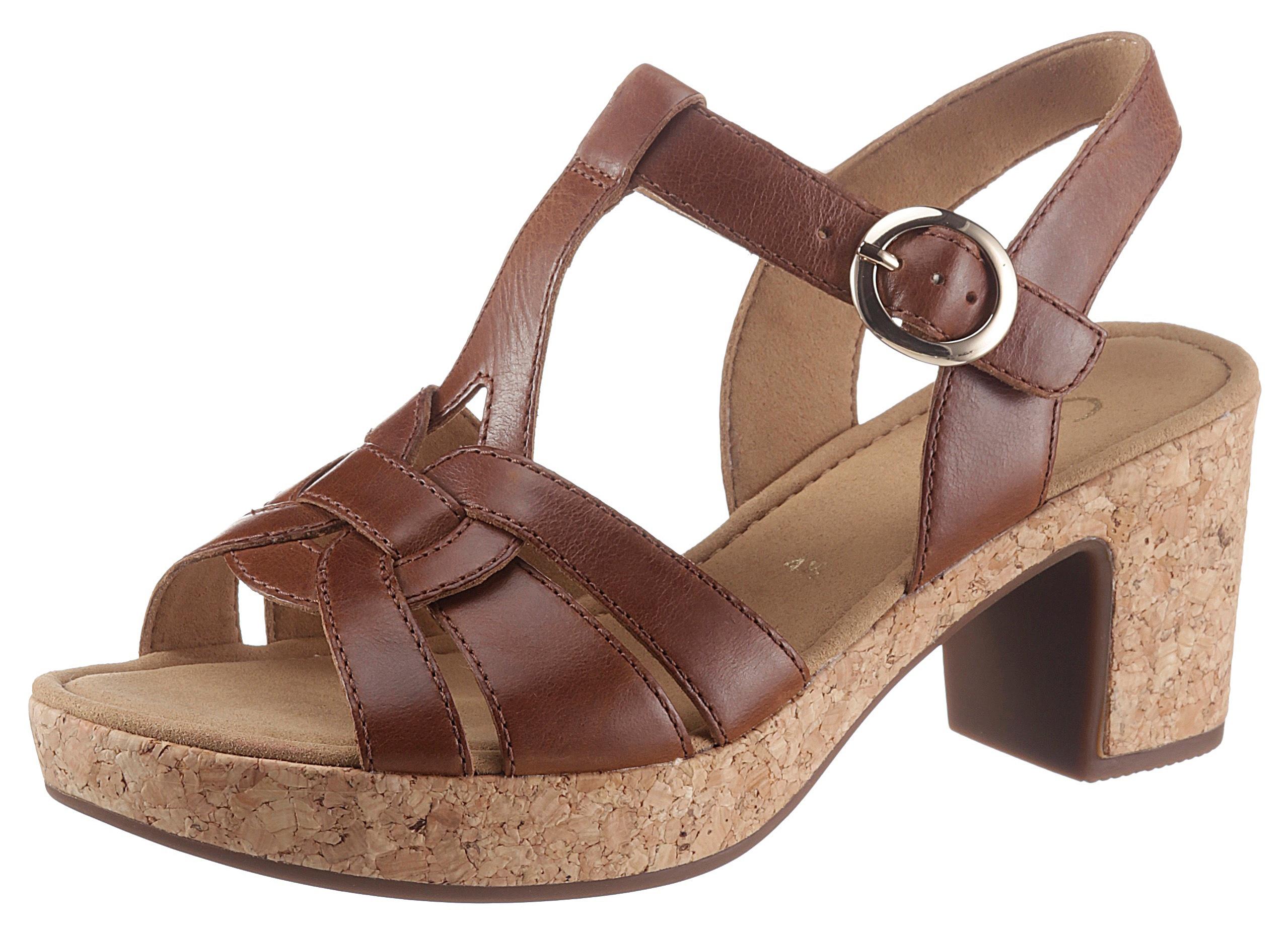 Gabor Sandalette, mit T-Spange braun Damen Sandaletten Sandalen Sandalette