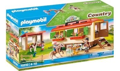 Playmobil® Konstruktions-Spielset »Ponycamp-Übernachtungswagen (70510), Country«, Made in Germany kaufen