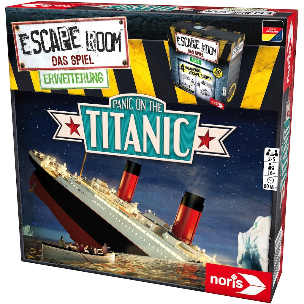 Noris Spiel »Erweiterungsspiel, Escape Room: Panic on the Titanic«, ; Made in Germany