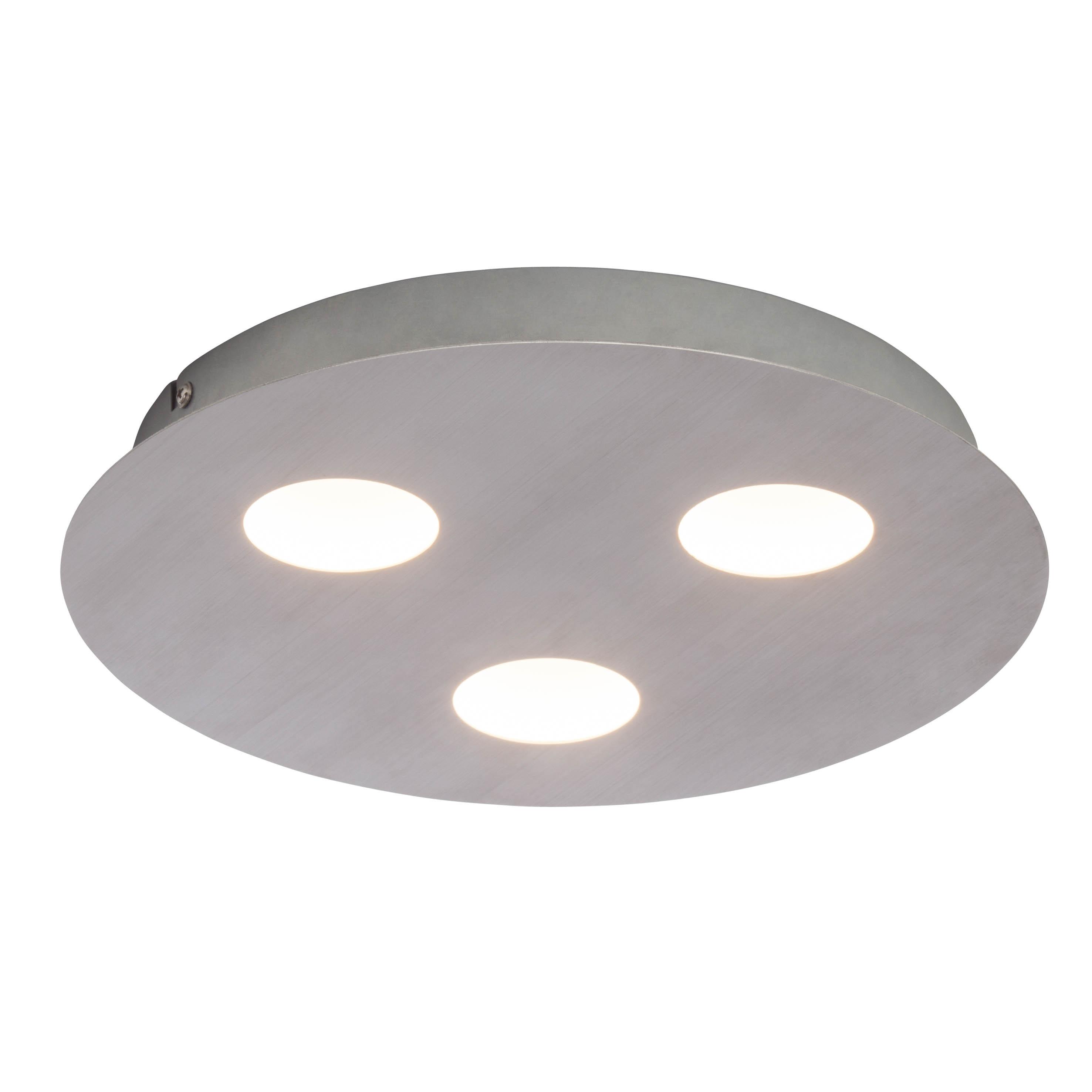 AEG Formit LED Wand- und Deckenleuchte 3flg nickel