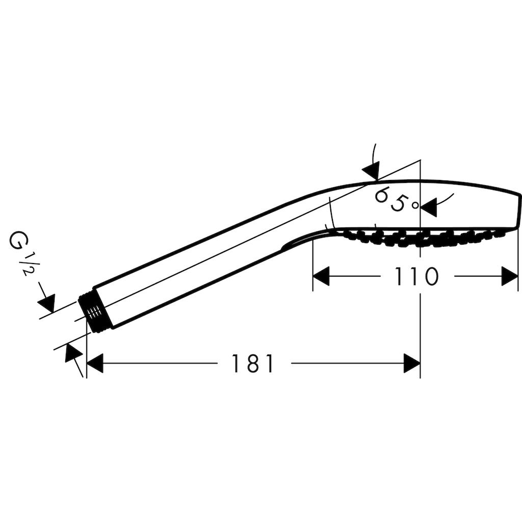 hansgrohe Handbrause »Croma Select E«, für Durchlauferhitzer geeignet