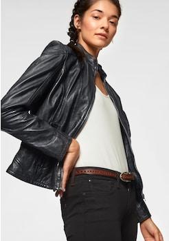 Schwarze Damen Lederjacken online bestellen | BAUR