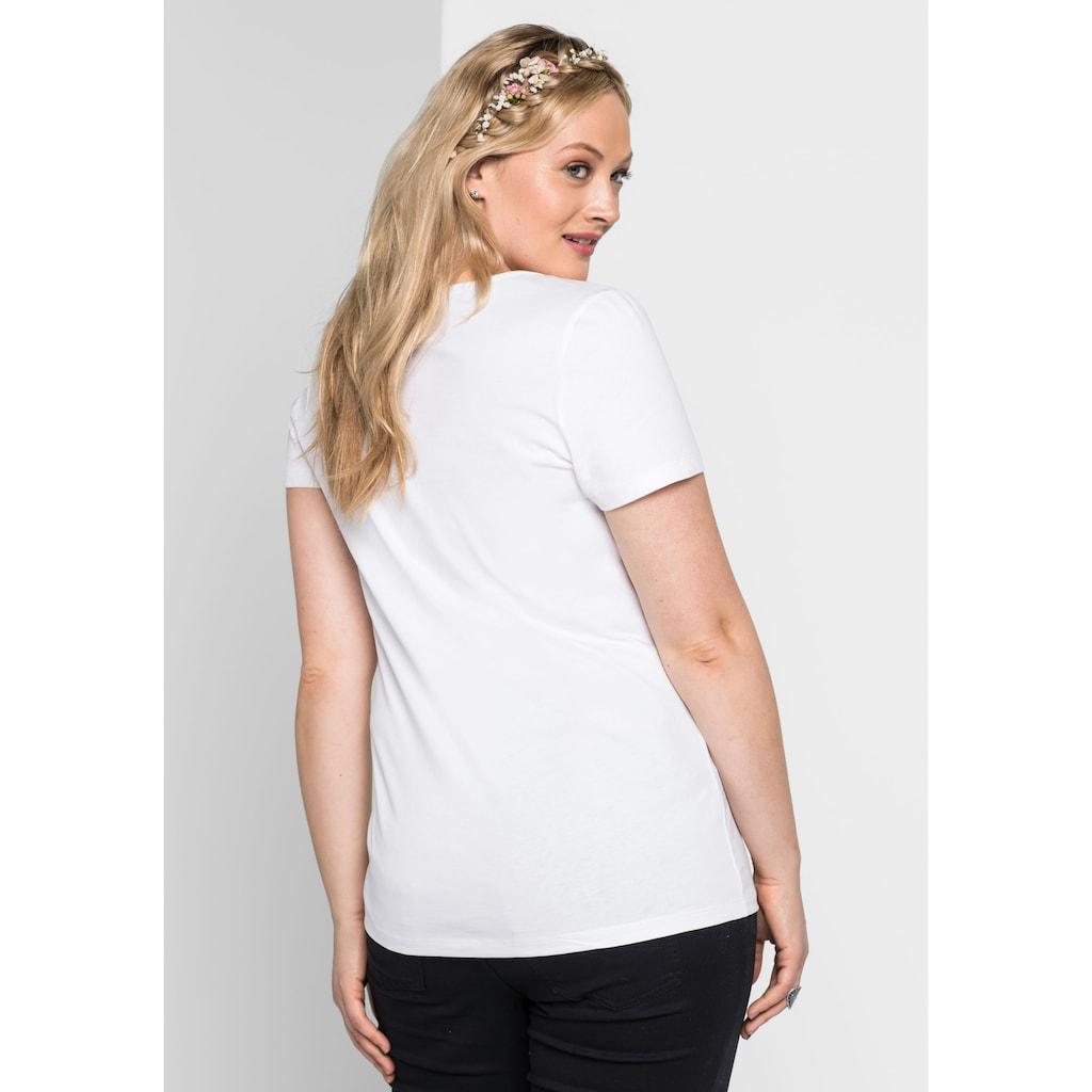 Sheego T-Shirt, mit Frontprint