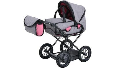 """Knorrtoys® Puppenwagen """"Ruby  -  jeans grey"""" kaufen"""