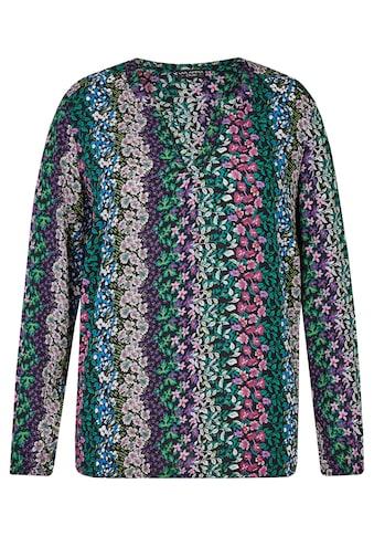 VIA APPIA DUE Fröhliche Bluse mit floralem Print Plus Size kaufen