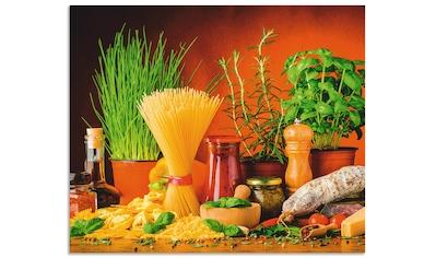 Artland Küchenrückwand »Mediterranes und italienisches Essen« kaufen