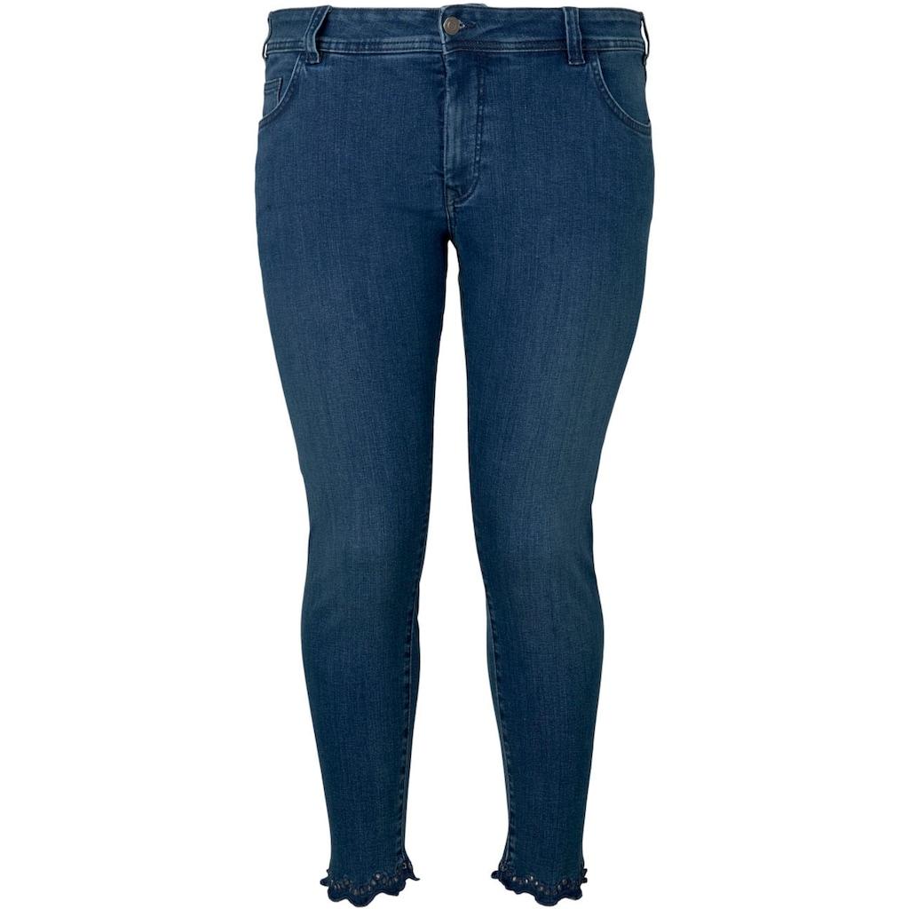 TOM TAILOR MY TRUE ME Skinny-fit-Jeans, mit hübscher Spitzen-Kante am Saum