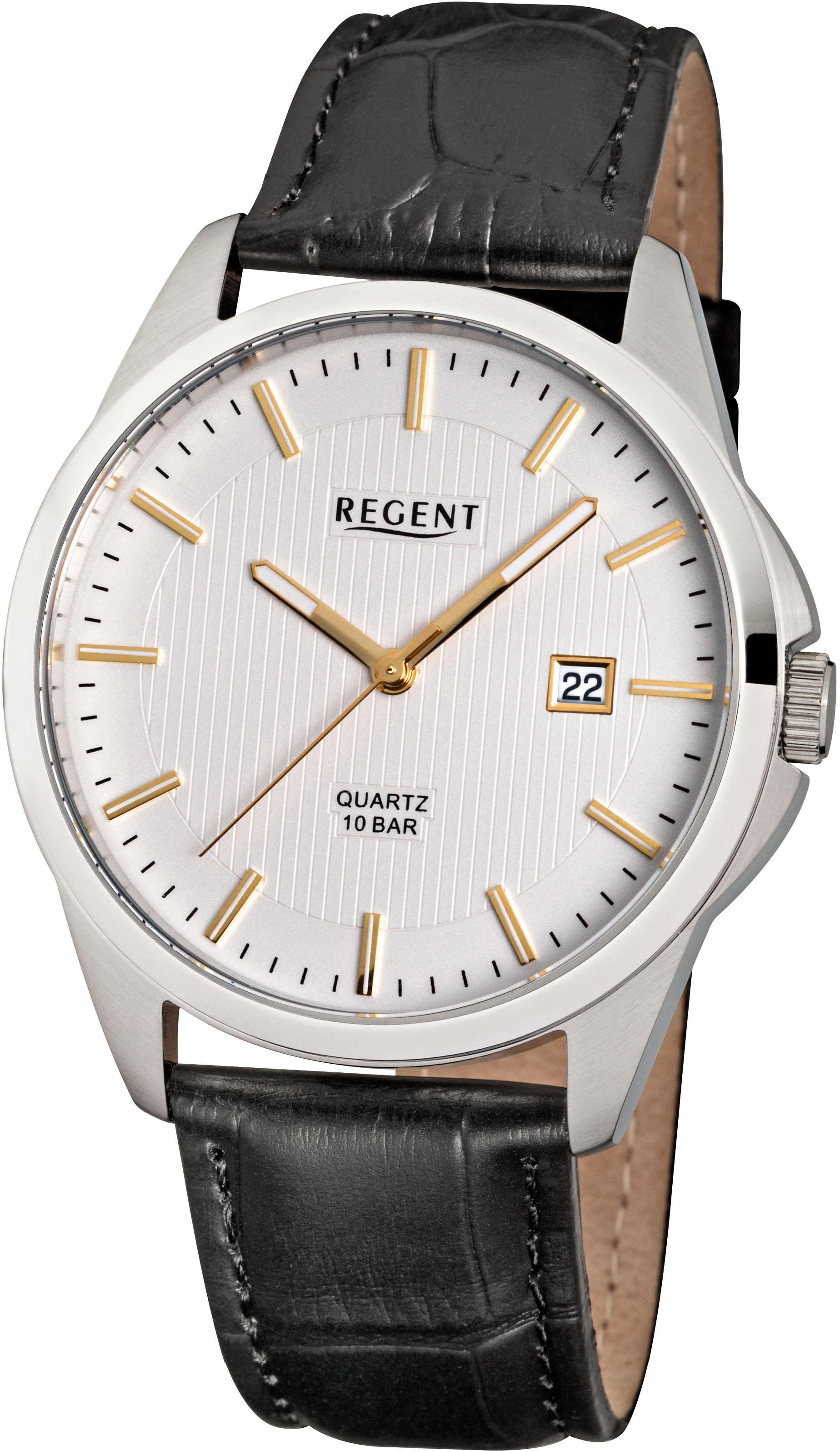 Regent Quarzuhr 17654011 F915   Uhren > Quarzuhren   Schwarz   Regent