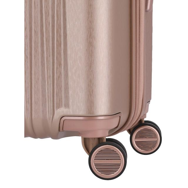 "TITAN® Hartschalen-Trolley ""BARBARA & TITAN®, Barbara Glint 77 cm, Rose Metallic"", 4 Rollen"