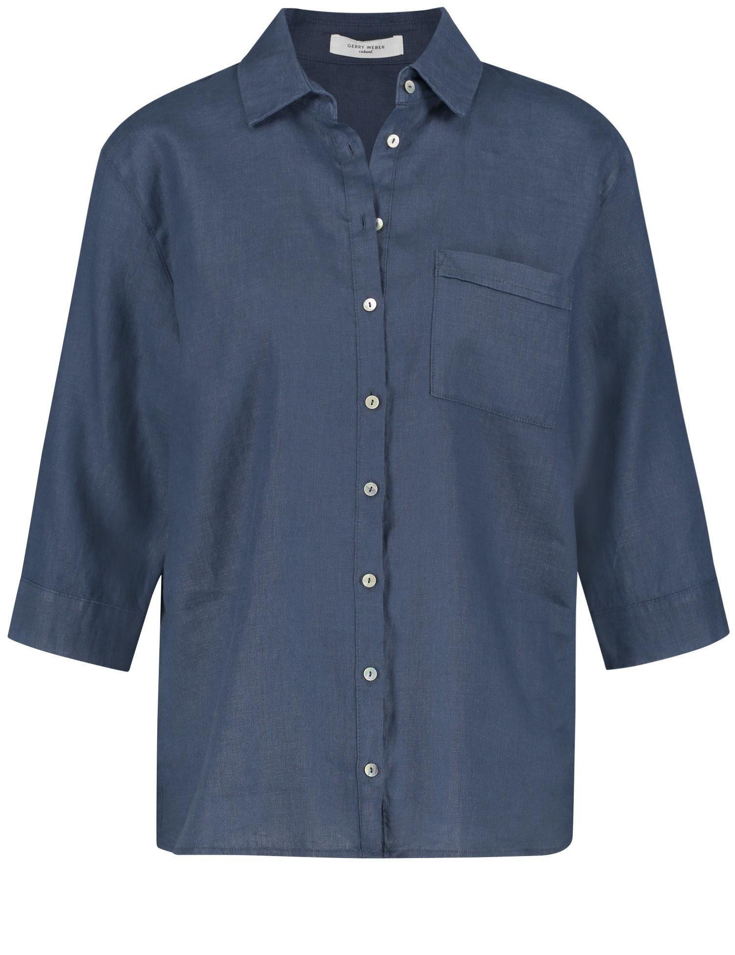 GERRY WEBER Bluse 1/1 Arm Bluse aus reinem Leinen