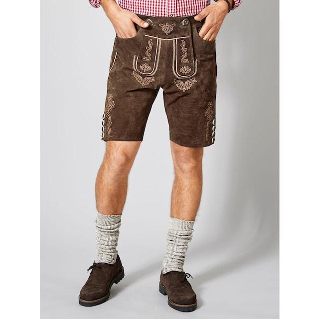 Men Plus by Happy Size Kurze Trachten-Lederhose